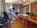 our cleaners cleanign an office in toront